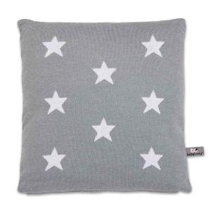 Kissen Star grau/weiß - 40x40