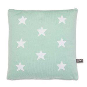 Kissen Star mint/weiß - 40x40