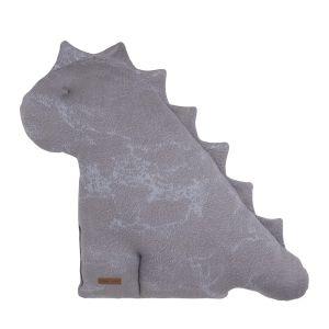 Kuscheldino Marble cool grey/lila - 55 cm
