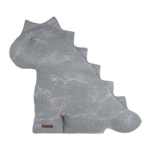 Kuscheldino Marble grau/silbergrau - 55 cm