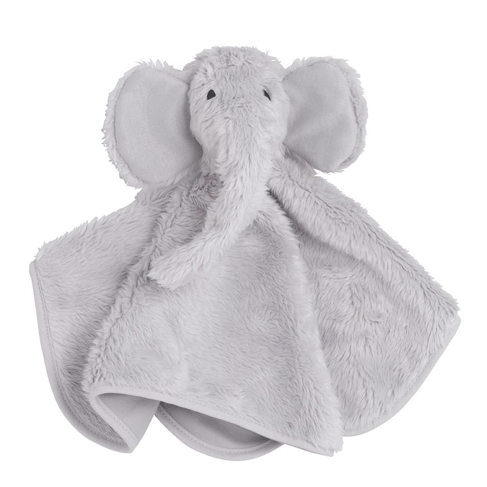 kuscheltuch elefant silbergrau