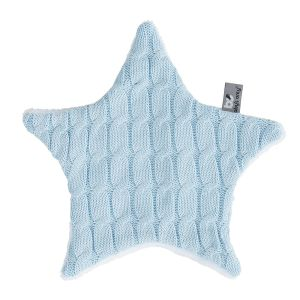 Kuscheltuch Stern Cable baby blau