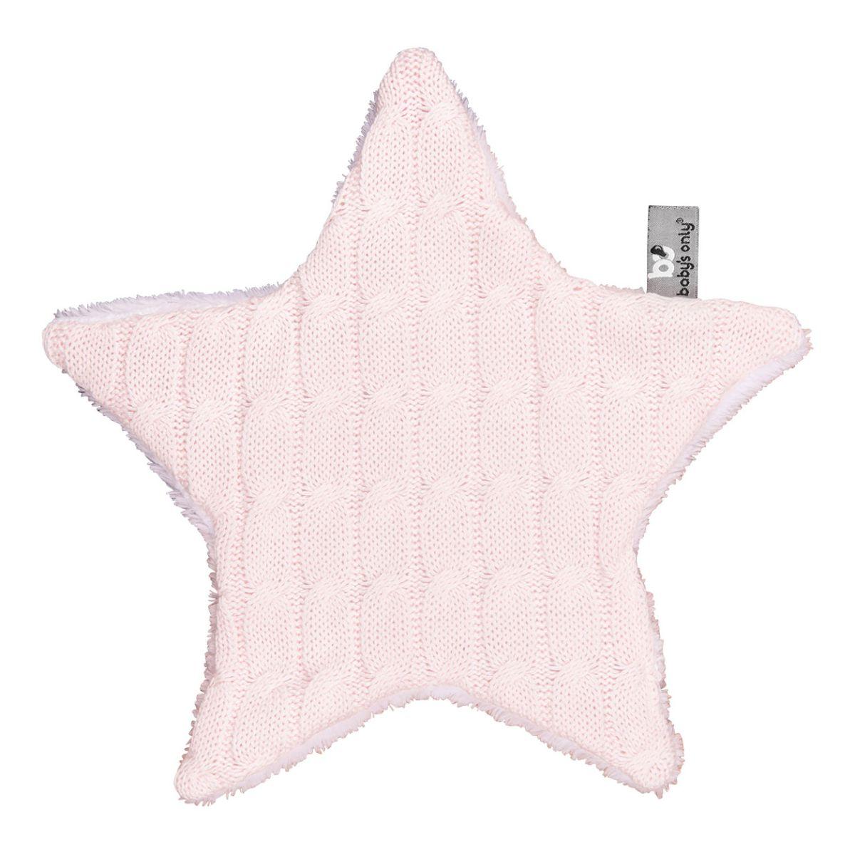 kuscheltuch stern cable klassisch rosa