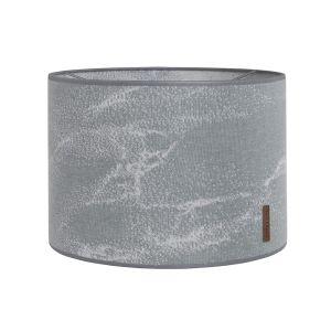 Lampenschirm Marble grau/silbergrau - Ø30 cm