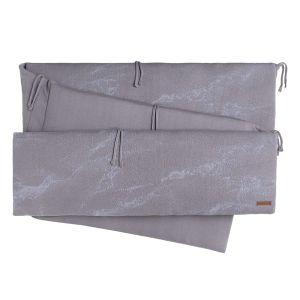 Laufgitter Nestchen Marble cool grey/lila