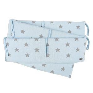 Laufgitter Nestchen Star baby blau/grau