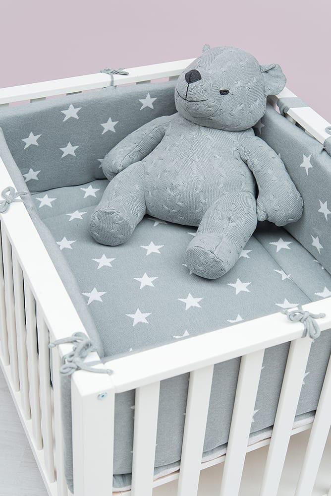 laufgitter nestchen star baby blaugrau