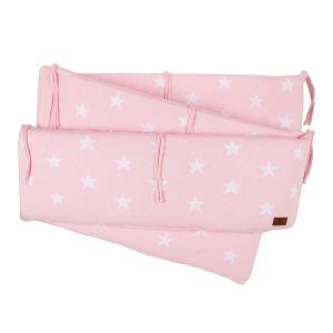 Laufgitter Nestchen Star baby rosa/weiß