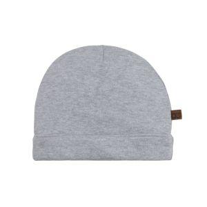 Mütze Melange grau - 0-3 Monate