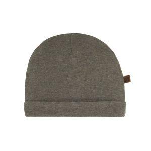 Mütze Melange khaki - 0-3 Monate