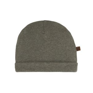Mütze Melange khaki - 3-6 Monate