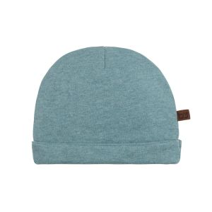 Mütze Melange stonegreen - 0-3 Monate
