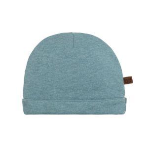 Mütze Melange stonegreen - 3-6 Monate