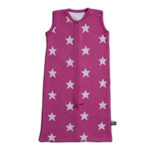 Schlafsack Star fuchsia/weiß - 90 cm