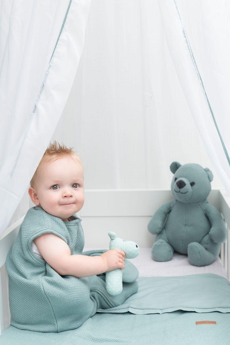 schlafsack teddyfutter classic puderblau 70 cm