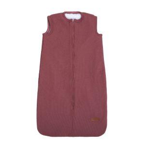 Schlafsack teddyfutter Classic stone red - 70 cm
