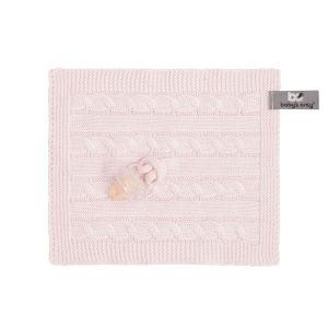 Schnullertuch Cable klassisch rosa
