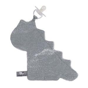 Schnullertuch Marble grau/silbergrau