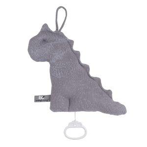 Spieluhr Dino Marble cool grey/lila