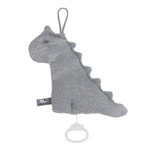Spieluhr Dino Marble grau/silbergrau