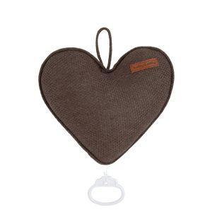 Spieluhr Herz Classic cacao