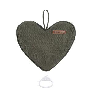 Spieluhr Herz Classic khaki