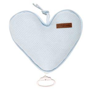Spieluhr Herz Classic puderblau