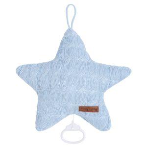Spieluhr Stern Cable baby blau