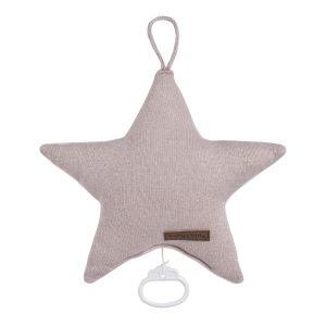 Spieluhr Stern Sparkle silber-rosa melee