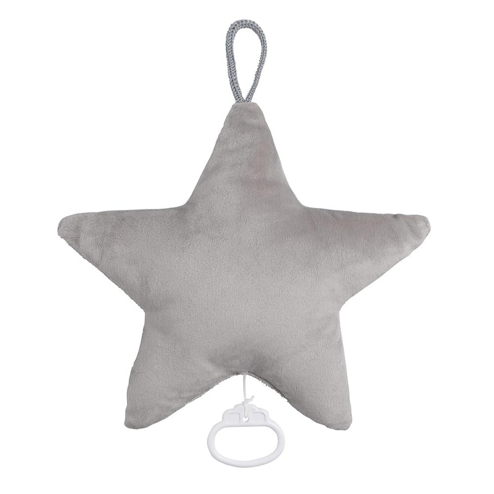 spieluhr stern sparkle silbergrau melee