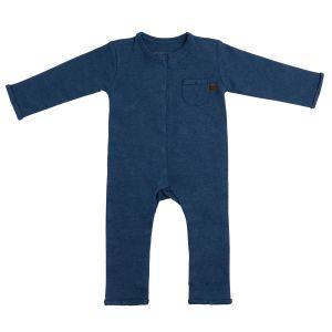 Strampler Melange jeans - 50