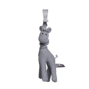 Vibrierende Giraffe grau