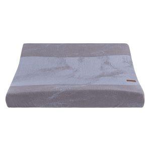 Wickelauflagenbezug Marble cool grey/lila