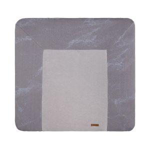 Wickelauflagenbezug Marble cool grey/lila - 75x85