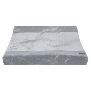 Wickelauflagenbezug Marble grau/silbergrau