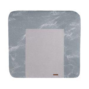 Wickelauflagenbezug Marble grau/silbergrau - 75x85