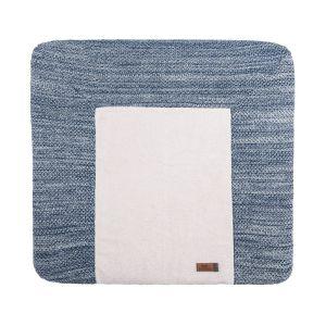 Wickelauflagenbezug River jeans/grau melee - 75x85