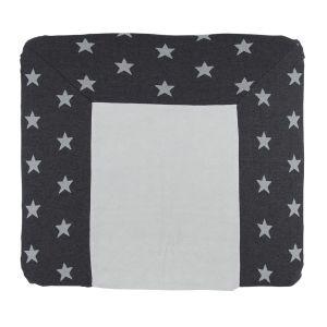 Wickelauflagenbezug Star antrazit/grau - 75x85