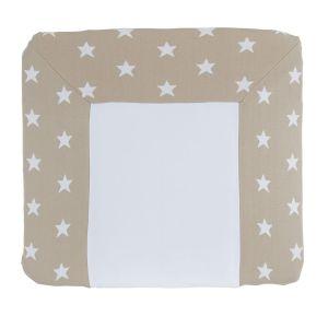 Wickelauflagenbezug Star beige/weiß - 75x85