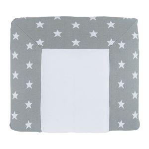 Wickelauflagenbezug Star grau/weiß - 75x85