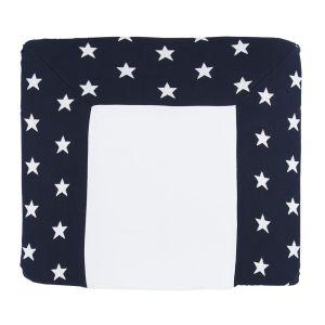 Wickelauflagenbezug Star marine/weiß - 75x85