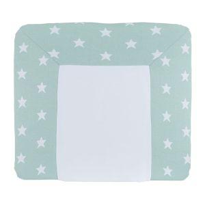 Wickelauflagenbezug Star mint/weiß - 75x85